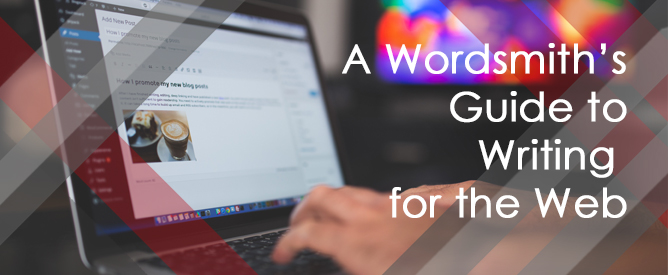 Feature image for a guide to writing for the web